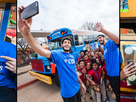 Abrines, Kanter Honor MLK With Book Bus