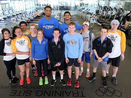 Jones, Lamb Promote Fitness at Boathouse