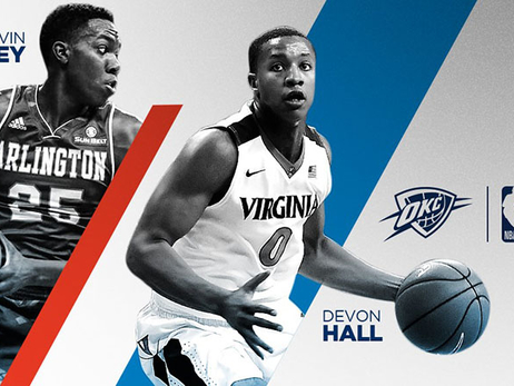 In 2018 NBA Draft's 2nd Round, Thunder Picks Up Hall and Hervey