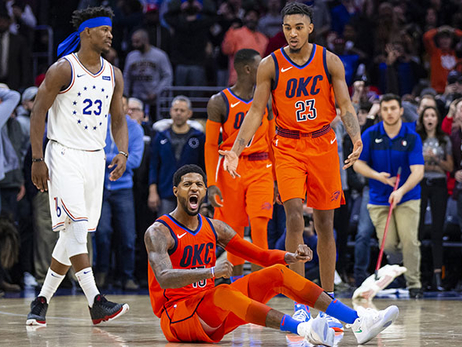 George's Game-Winner Saves the Day – OKC 117, PHI 115