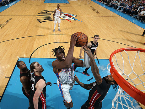 Final Charge Falters, Turnovers Do in Thunder - OKC 107, MIA 116
