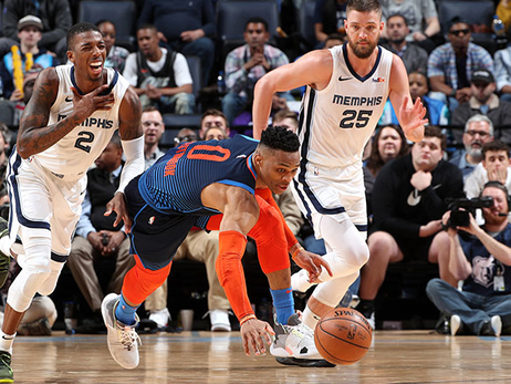 Cold Start Puts Thunder Behind Early and For Good - OKC 103, MEM 115