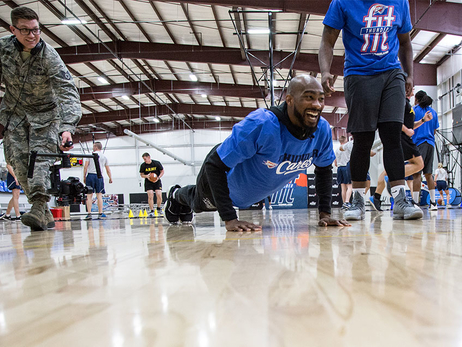 A Thunder Fit Salute With Hoops and Push-Ups
