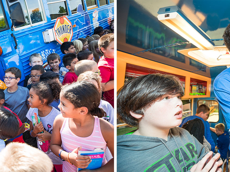 Semaj Christon, Josh Huestis Deliver Book Bus Fun