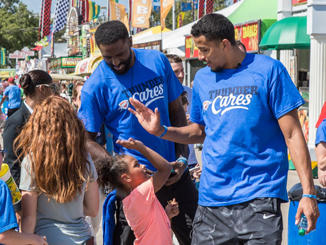 Thunder Players Fill Up & Reach Out at the Oklahoma State Fair