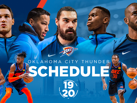 Thunder Announces 2019-20 Schedule
