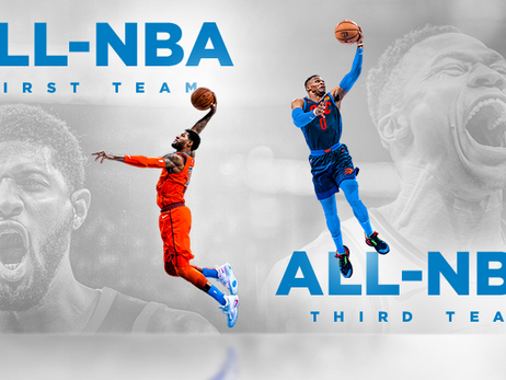 George and Westbrook Named to All-NBA Teams