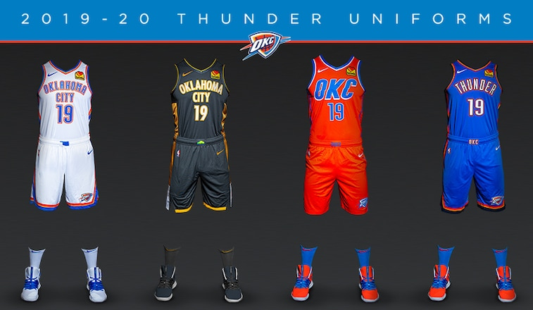 hot sale online 78637 f3497 Thunder Unveils New Uniform in Partnership with Oklahoma ...
