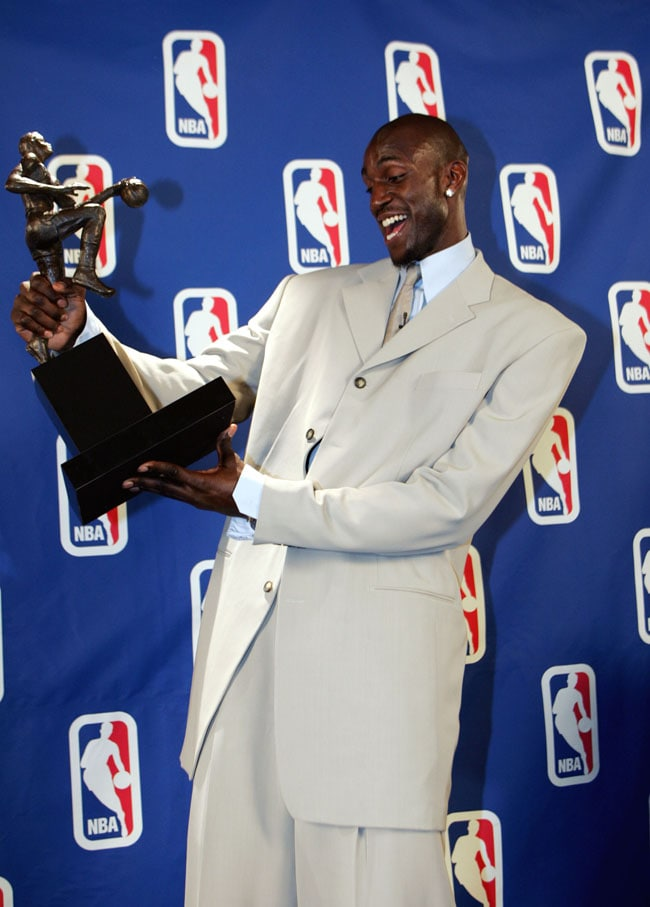 Here Is A Special Look Back As Kevin Garnett Received His Most Valuable Player Trophy In