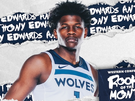 Timberwolves Guard Anthony Edwards Named KIA NBA Western Conference Rookie of the Month