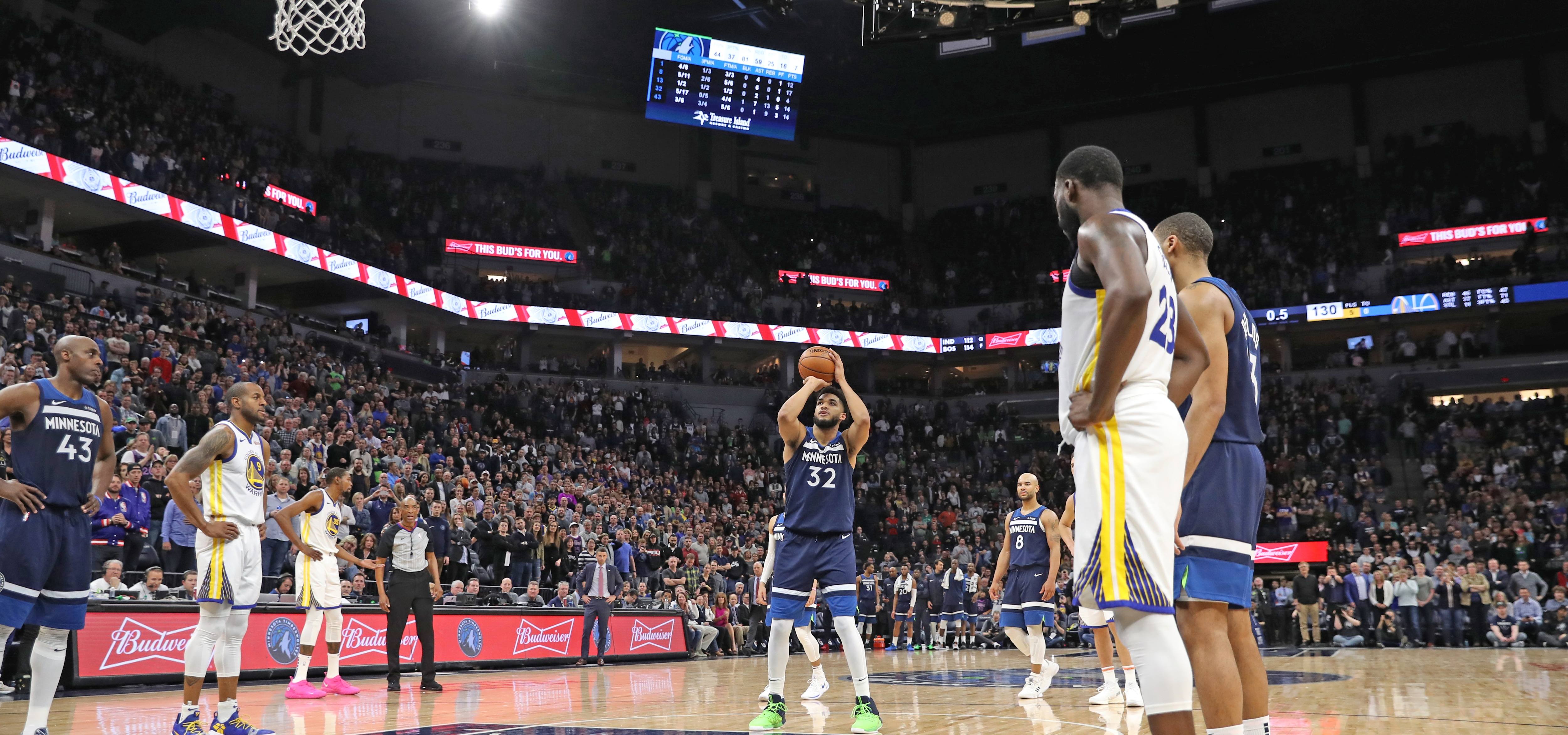 e135ba4c8e3 Wolves Are 1 Of 4 Teams To Beat Warriors In Every Season Since 2015-16 |  Minnesota Timberwolves