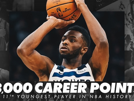 Andrew Wiggins Becomes 11th-Youngest Player To Score 8,000 Points
