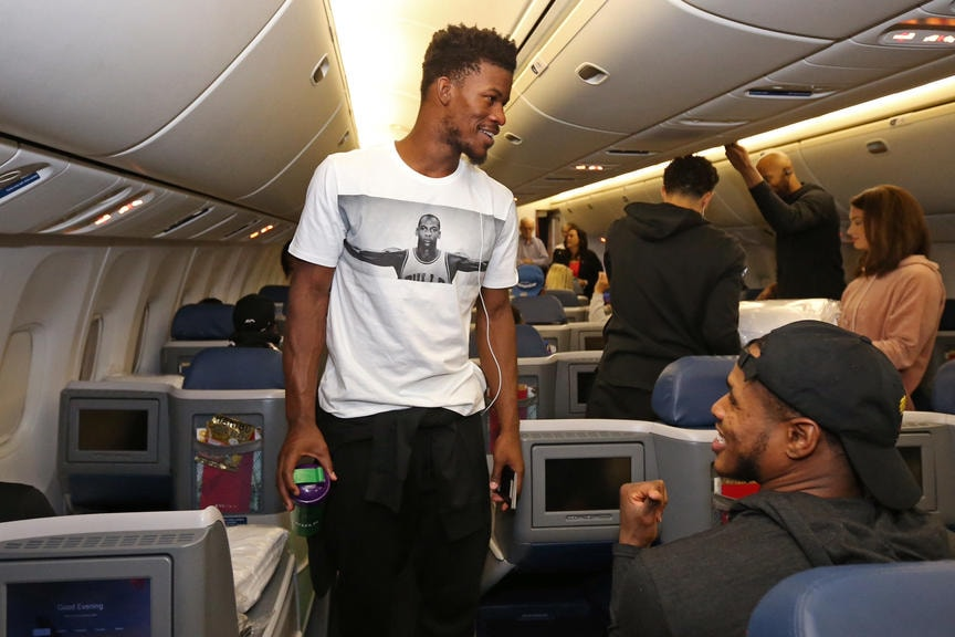 Gallery wolves board plane for china minnesota timberwolves los angeles ca september 30 jimmy butler 23 of the minnesota timberwolves voltagebd Images