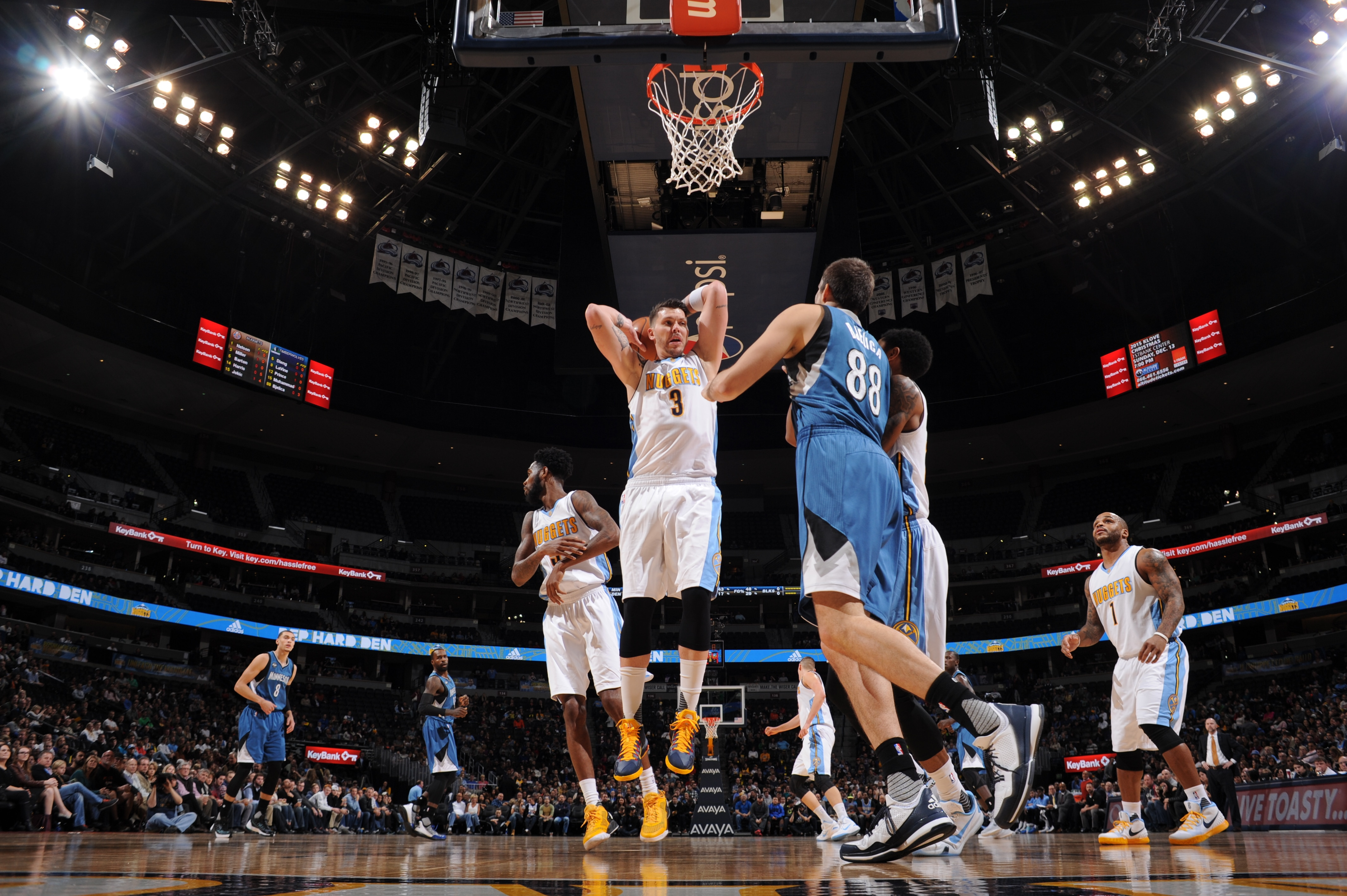 Klove Christmas Player.Photo Gallery Wolves At Nuggets Minnesota Timberwolves