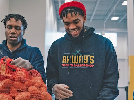 Timberwolves Family Comes Together In Volunteer Efforts