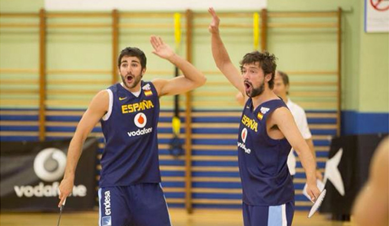 Ricky Rubio Trains With Spain For FIBA