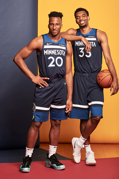 Okogie & Bates-Diop At Rookie Photo Shoot
