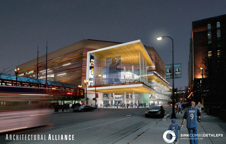 Target Center Renovation Renderings