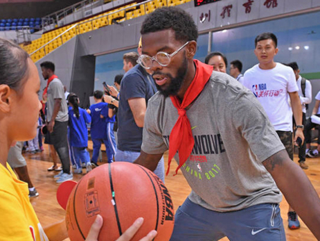 Wolves Take Part In NBA Cares Shenzhen Event