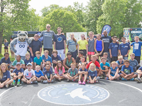 Minnesota Timberwolves FastBreak Foundation and U.S. Bank Unveil Refurbished Court in Hibbing