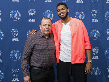 Gallery | Karl-Anthony Towns Signs Extension