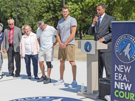 Minnesota Timberwolves and U.S. Bank Unveil Brand New Court in Moorhead