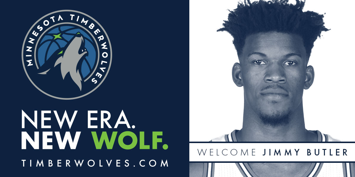 Timberwolves Acquire Three-Time NBA All-Star and 2016-17 All-NBA Third Team Selection Jimmy Butler