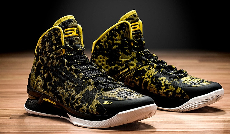 Under Armour Warriors Curry 2 Gold Rings Basketball Shoes Men