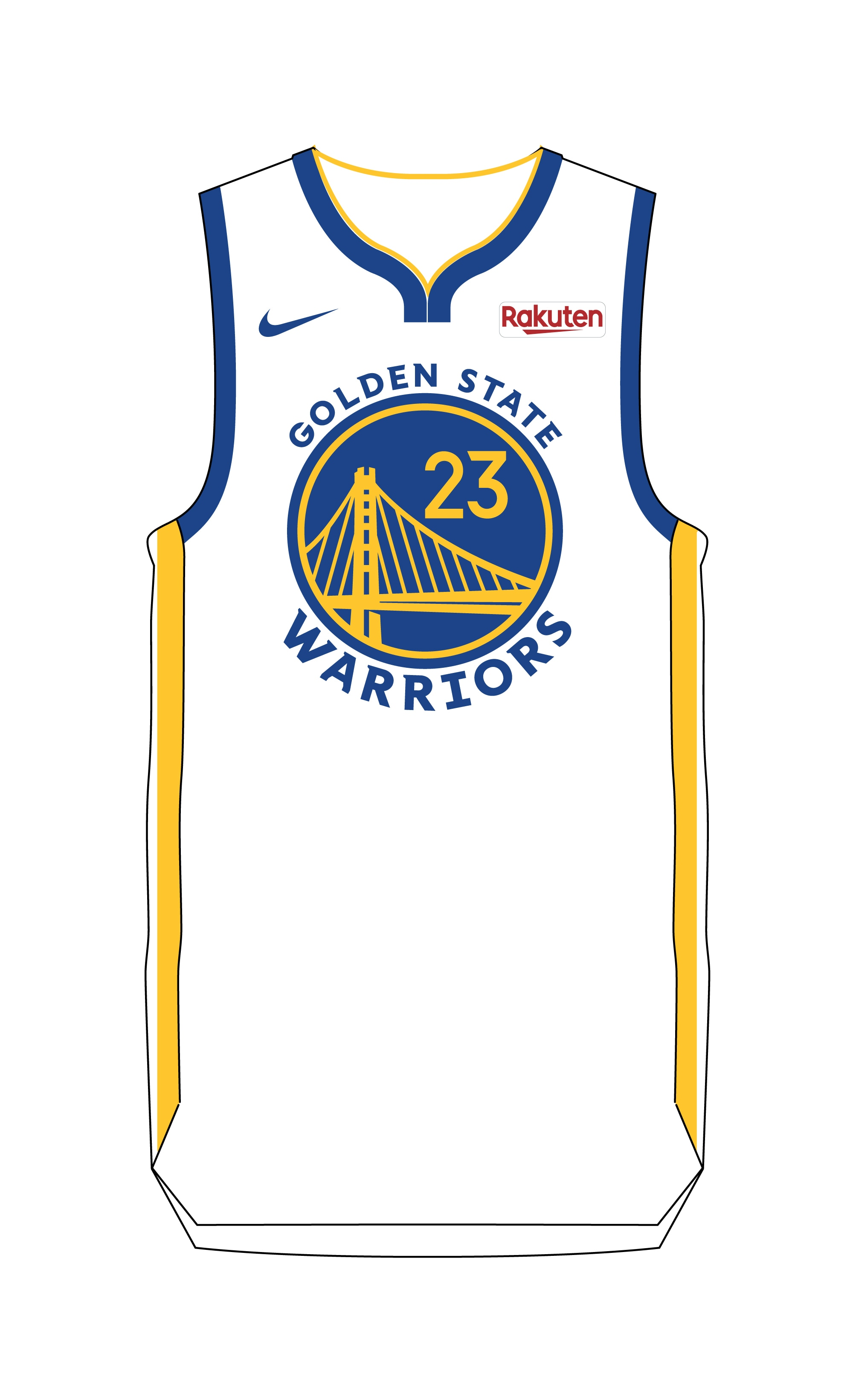 warriors white jersey