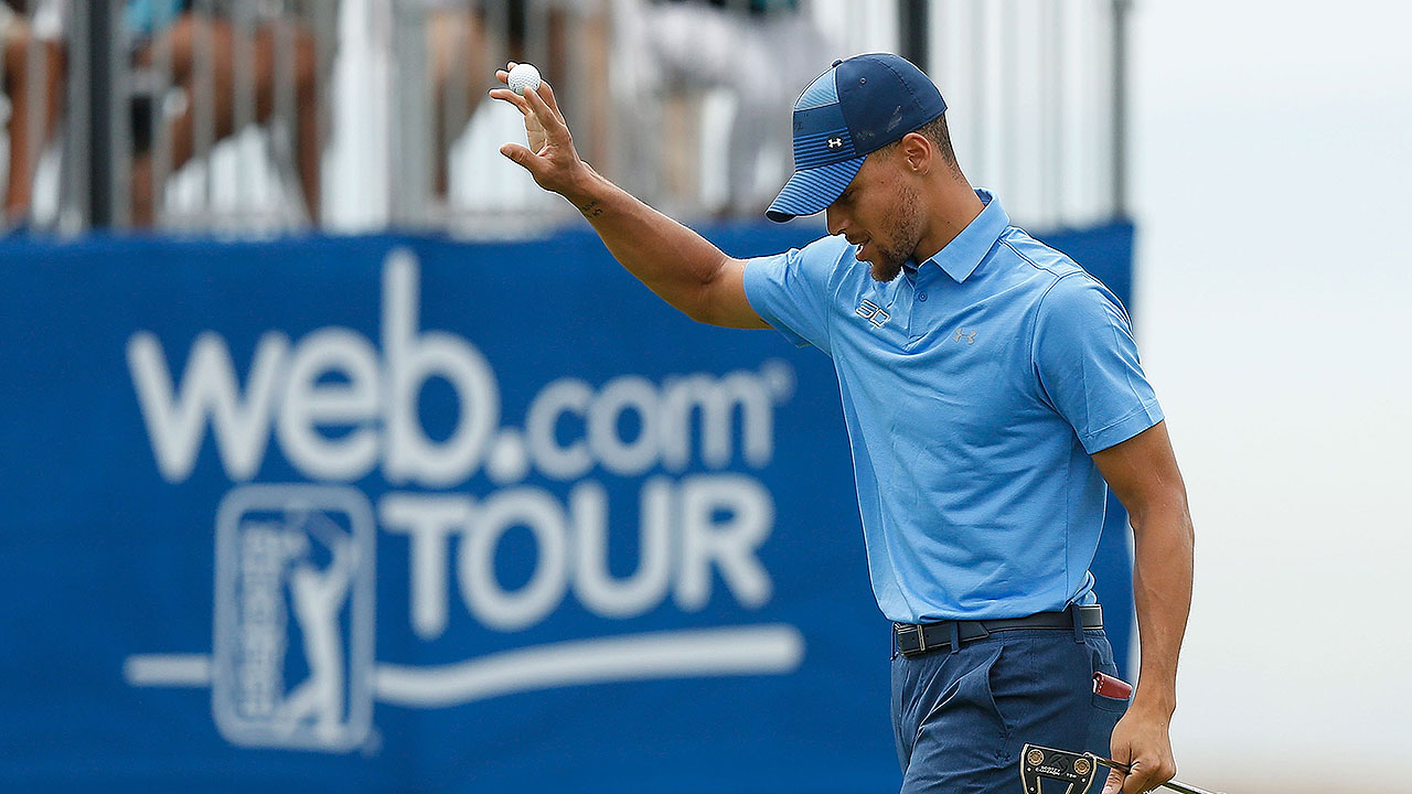 2c6eeeb3cbc8 Stephen Curry Holds His Own in Pro Golf Debut. Warriors Guard Shot Two  Rounds of 74 in the Ellie Mae Classic at TPC Stonebrae in Hayward