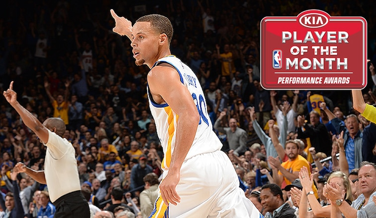 Stephen Curry Named NBA Western Conference Player of the Month