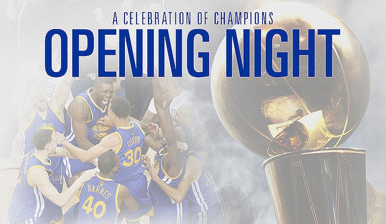 Warriors to Receive 2014-15 NBA Championship Rings on Opening Night