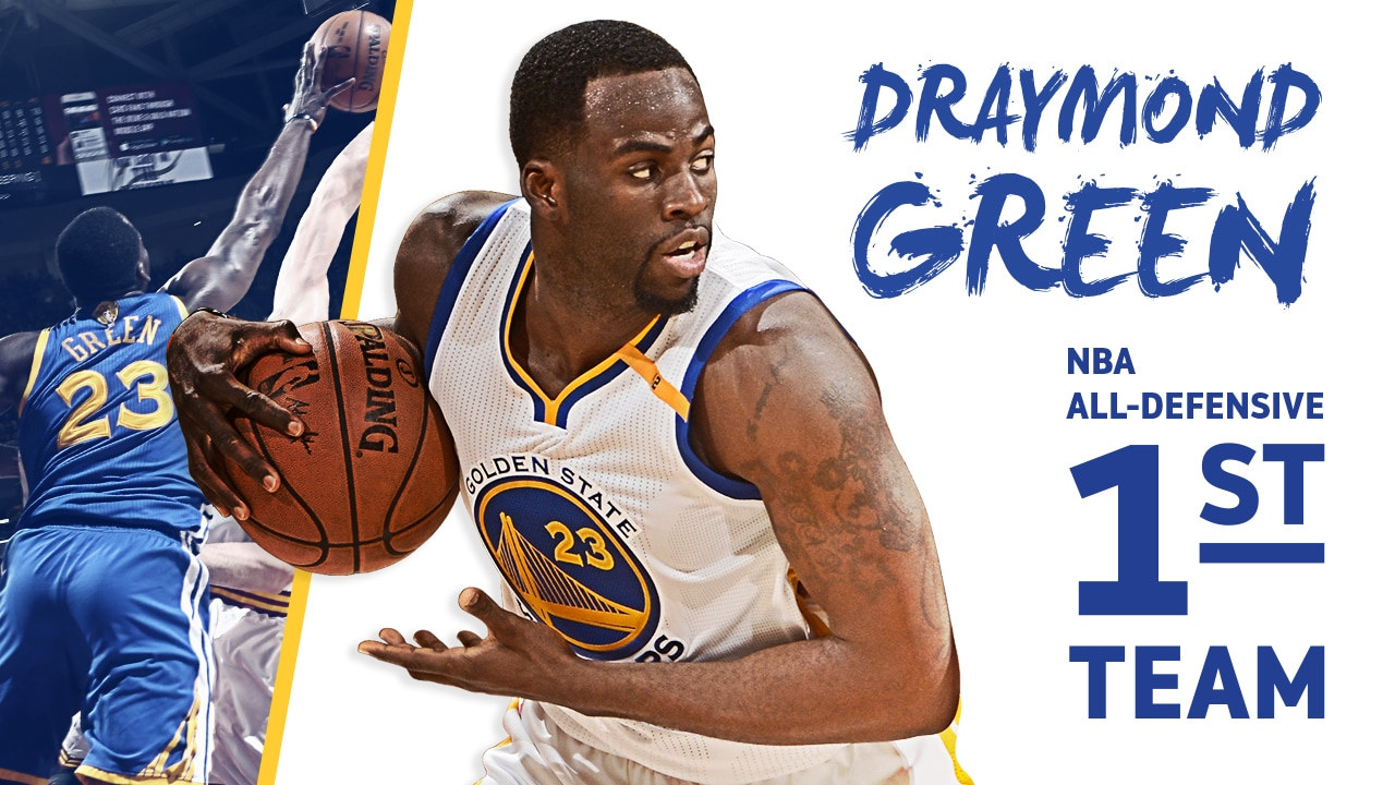 Draymond Green Named To 2016 17 Nba All Defensive First