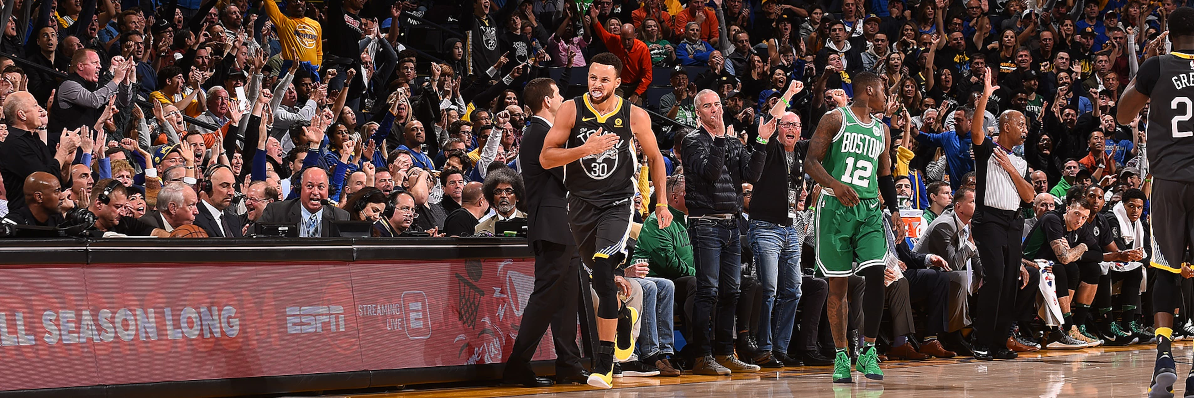 Clutch Curry Delivers as Dubs Beat Celtics