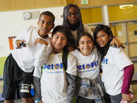 Photos: Damian Jones Hosts Get Fit Time-Out at Willie Brown Middle School