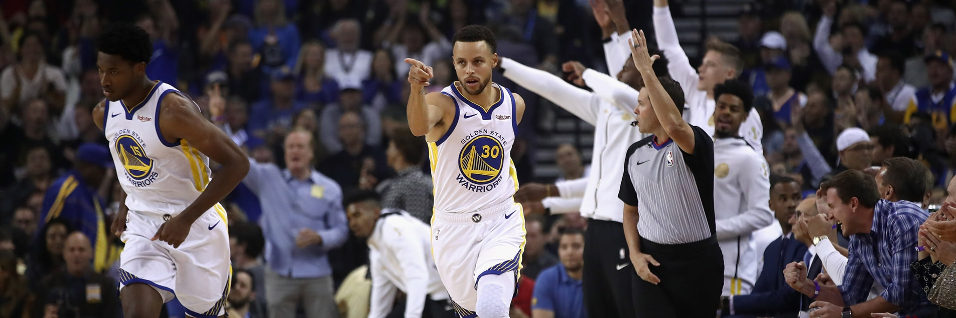 Curry Leads Warriors to Opening Night Victory | Golden State Warriors