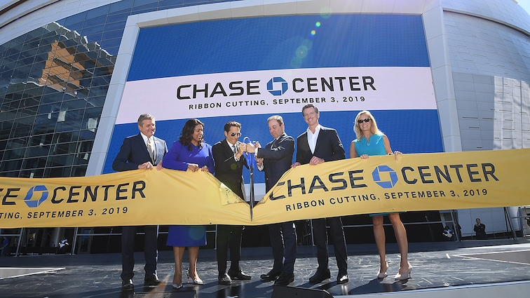 GOLDEN STATE WARRIORS AND CHASE CENTER HOLD OFFICIAL RIBBON CUTTING