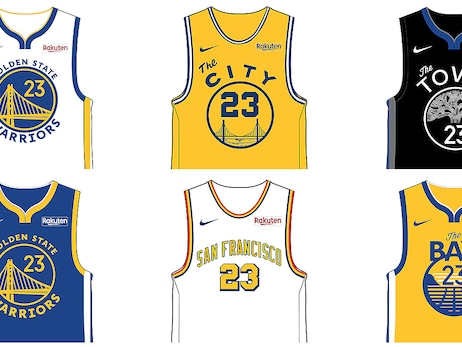 Warriors Unveil Six Jersey Designs Ahead of 2019-20 NBA Season