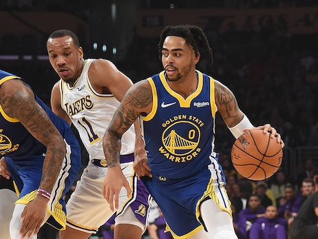 Russell Scores 23 in Preseason Loss to Lakers