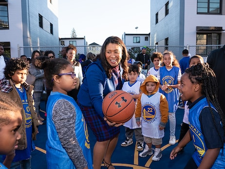 Warriors Community Foundation's Makin' Hoops Program at Westside Courts in San Francisco