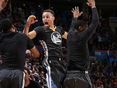On This Date in Warriors History: Stephen Curry's Double Banger in Oklahoma CIty