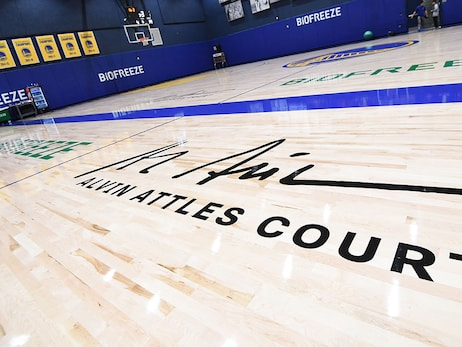 Warriors Unveil Alvin Attles Courts at the Biofreeze Performance Center