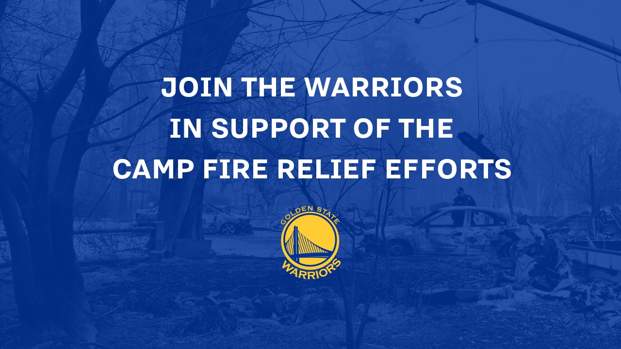 Warriors Launch Auction and Funding Site to Aid in Camp Fire Relief Efforts