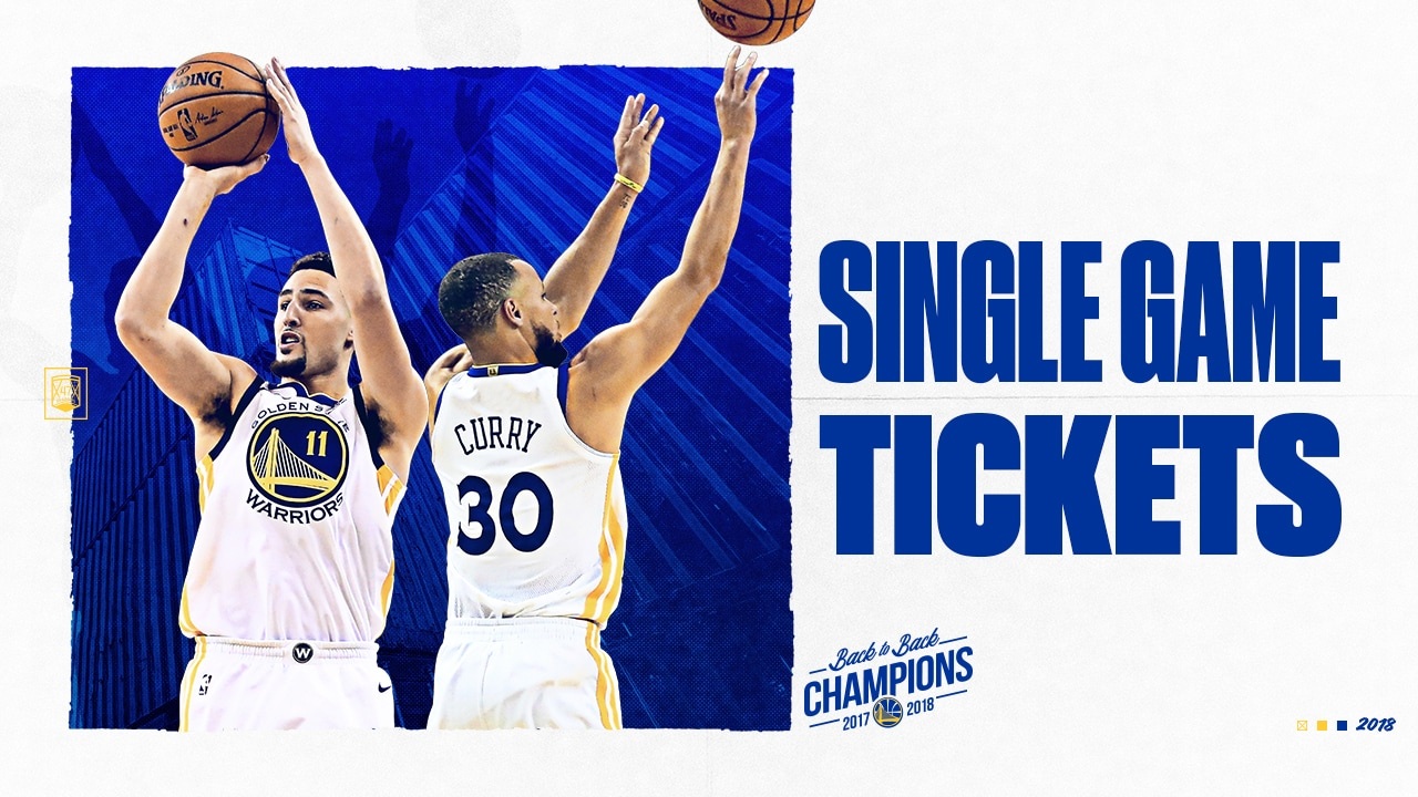 Warriors Single-Game Tickets for the 2018-19 Season Presented by Kaiser Permanente Available During Exclusive Presale Events This Week