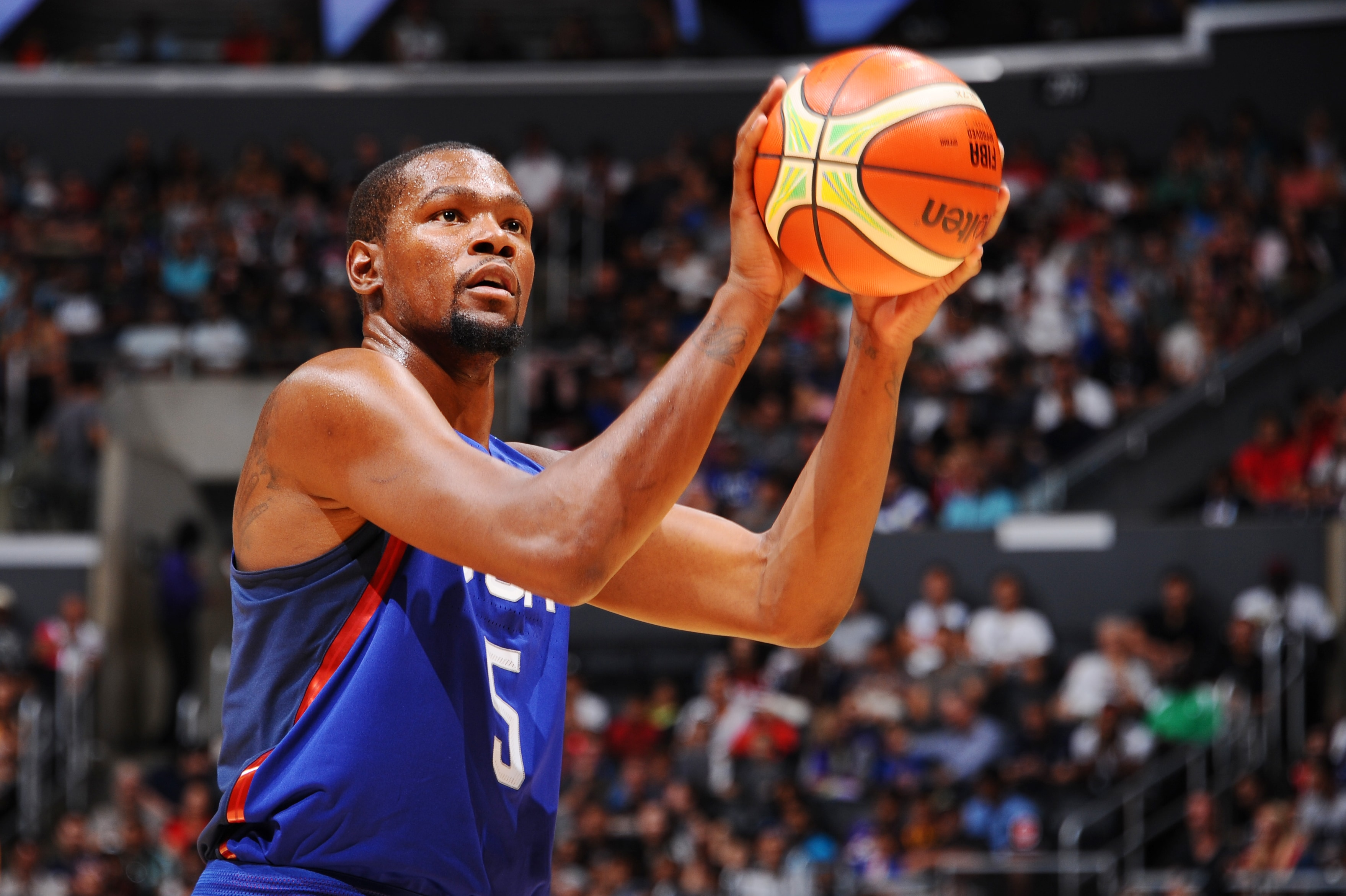 Durant, Thompson Lead USA Past China in Showcase ...