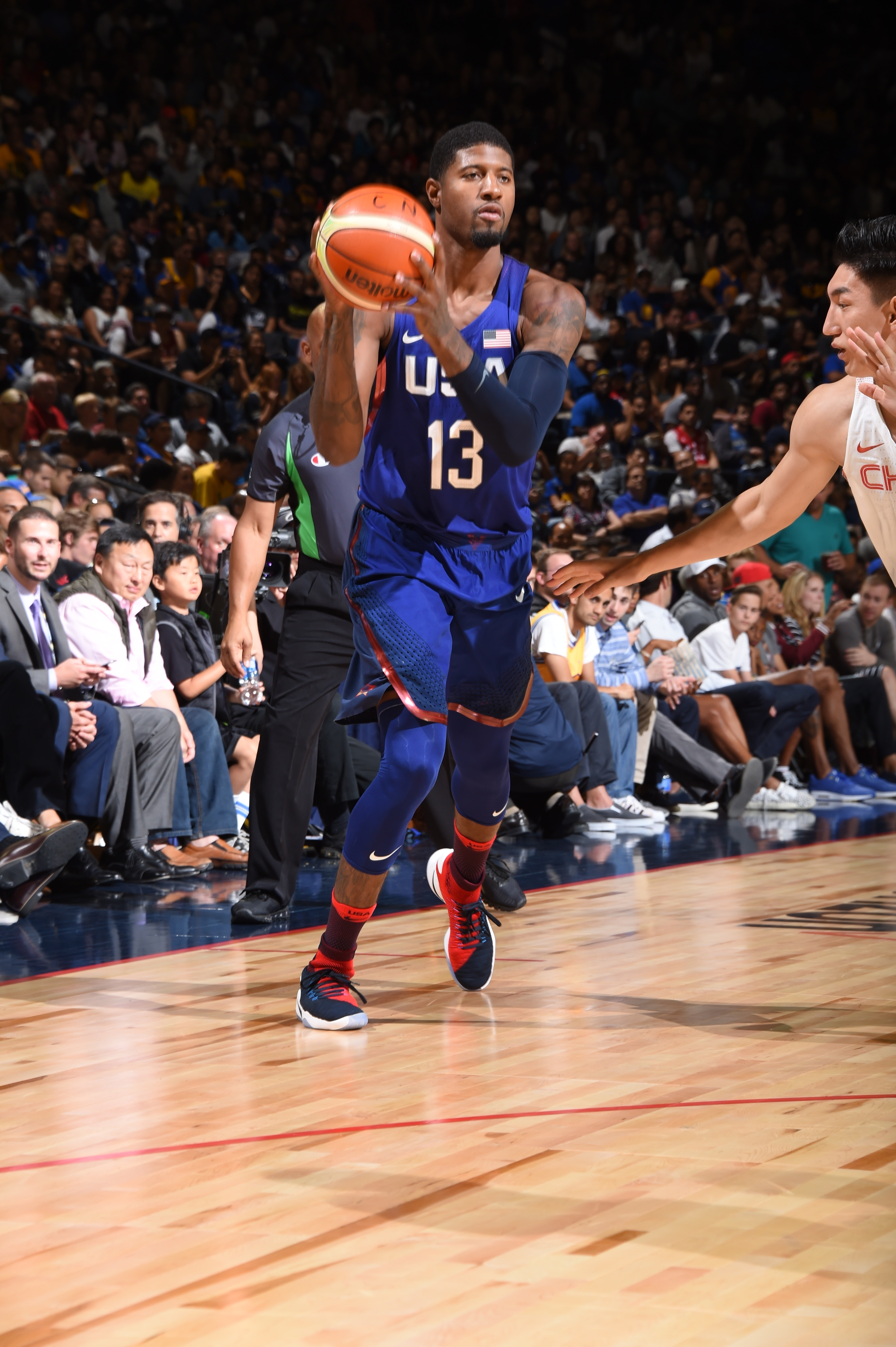 Team USA Defeats China in Durant's Oracle Debut | Golden ...