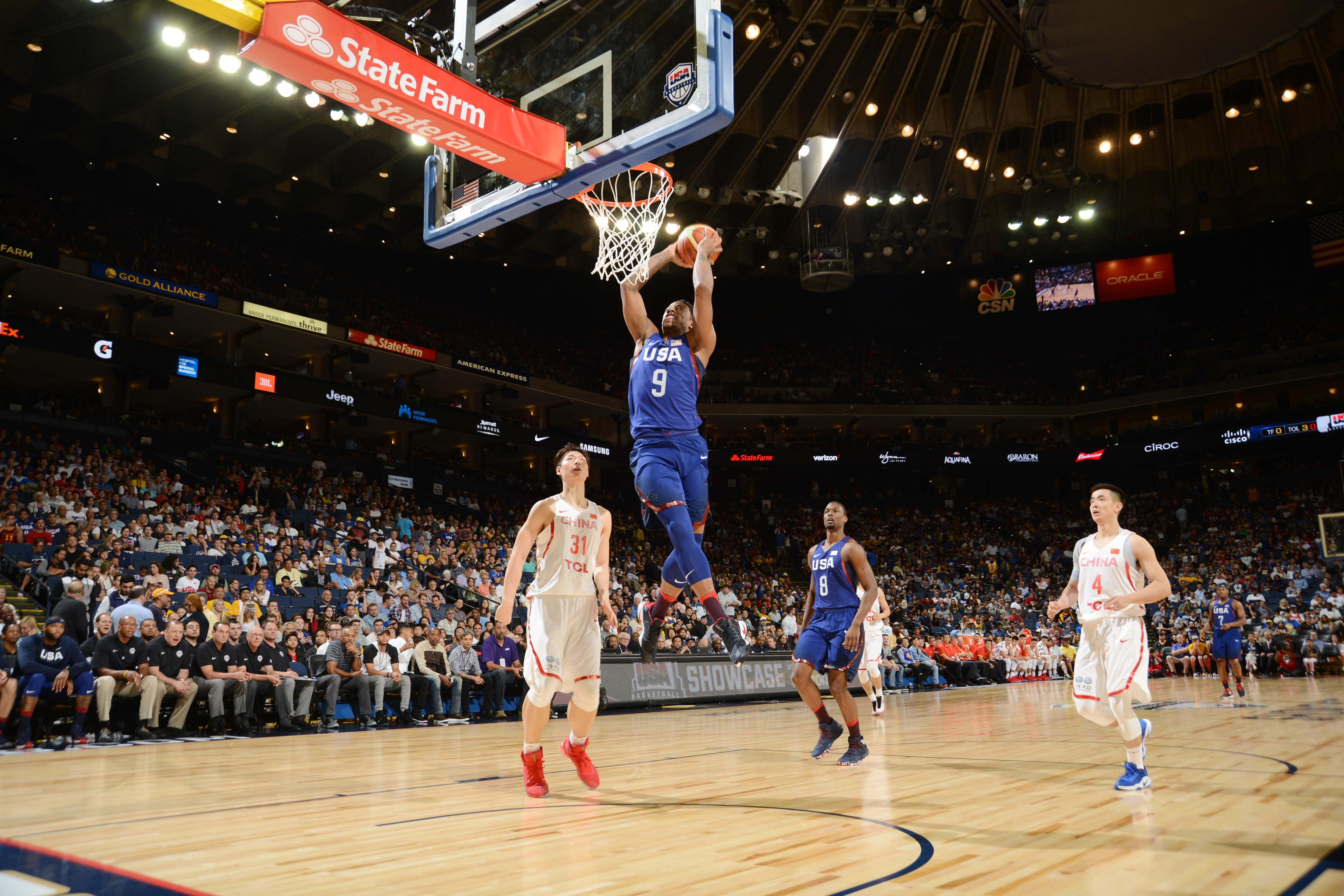 Team USA Defeats China in Durant's Oracle Debut   Golden ...