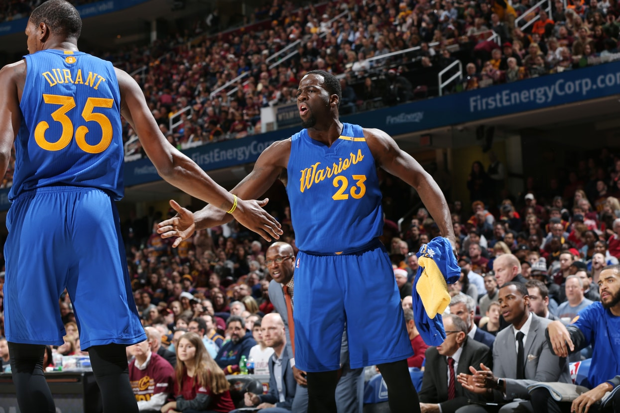 ... cleveland oh december 25 draymond green 23 and kevin durant 35 7f271db4f