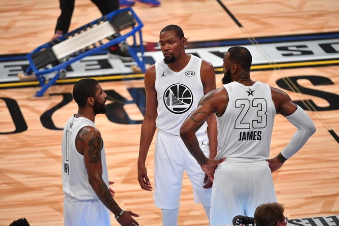 f1c443639917 Team Stephen Falls to Team LeBron in 2018 NBA All-Star Game