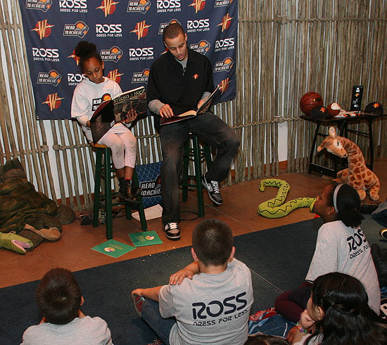 Stephen Curry Hosts Reading Time Out - 2/5/10